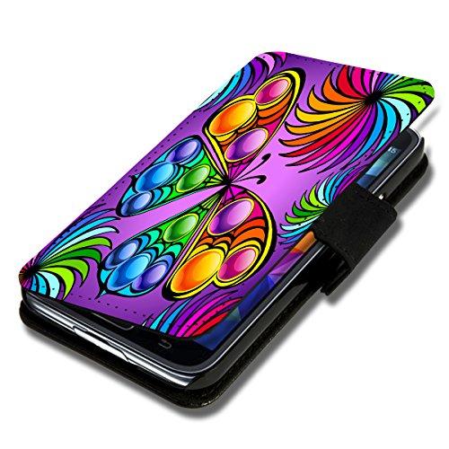 Book Style Flip Handy Tasche Case Schutz Hülle Schale Motiv Etui für Apple iPhone 6 - 4,7 Zoll - A36 Design2 Design 8