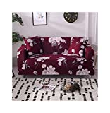 WUFANGFF Slipcover Blumenmuster Sofatuch Schonbezug Couch Covers Sofa Furniture Protector, 4Seat