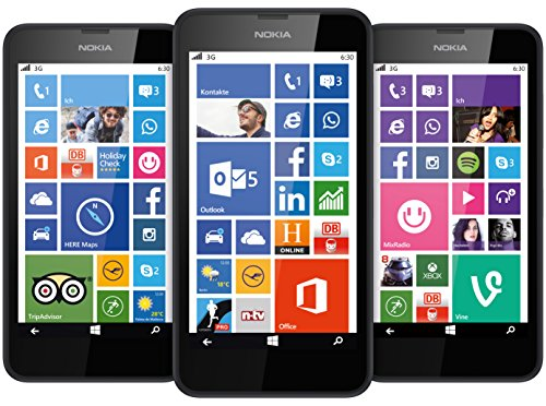 Nokia Lumia 630 - Smartphone libre Windows Phone  pantalla 4 5   c  mara 5 Mp  8 GB  Quad-Core 1 2 GHz  512 MB RAM   negro  importado