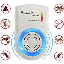 AngLink Repellente Ultrasuoni e Elettromagnetico per Topi, Insetti, Zanzare, Ratti, Scarafaggi, Mosche, Pulci, Ragni Efficace Sicuro e non Tossico per Domestico Casa Ufficio