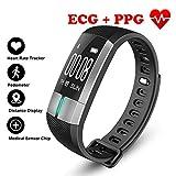 Pedometer Fitness Tracker Smart Armband EKG & PPG Überwachung Echtzeit Herzfrequenz Blutdruck Sport Schrittzähler Für Android IOS WENNIU