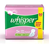 Whisper Ultra Soft Sanitary Pads - 50 Count (Extra Large)