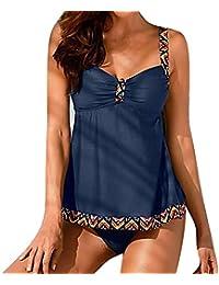 ca7176718c Hibote Tankini de Dos Piezas para Mujer Swimsuit Dos Piezas Set de Bikini  Moda Monokini Tank