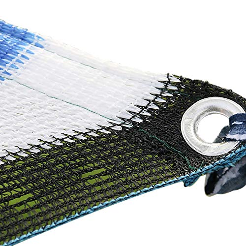 Multi-stripe Mesh (Sonnensegel 90% Sunblock Shade-Stoff Mit Ösen Leichtes, Atmungsaktives, UV-beständiges Poly Tarp Shade-Netzgewebe Aus Sun Mesh (Color : Stripe, Size : 9.9x13.2ft/3x4m))