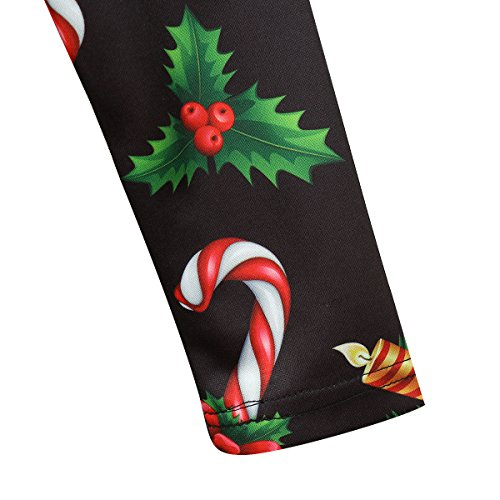 Elite99 Femmes Noël Père Noël Fête Swing Robe Évasée Haut Grande Taille Xmas Holly