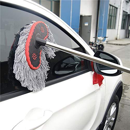 RUIX Milch Seide autowaschbürste Lange Stange Langer Griff teleskopstaub waschen Auto mopp Auto Pinsel Wasser Pinsel autowaschwerkzeug