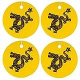 Eclectic Lady Set von vier chinesischen tierkreiszeichen drachen luftverbesserer kamille gold