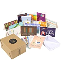 Best Paper Greetings Happy Birthday Greeting Cards (144-Pack) - Happy Birthday Greeting Cards Variety Pack - 36 Unique Designs - Blank on the Inside, Envelopes Included - 10 X 15 Centimetres