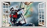 Chicbanners Ant-Man Ant Man 3D Wall Crack Smash V101Wandtattoo Selbstklebende Poster Wall Art Größe 1000mm Breit x 600mm Tief (groß)