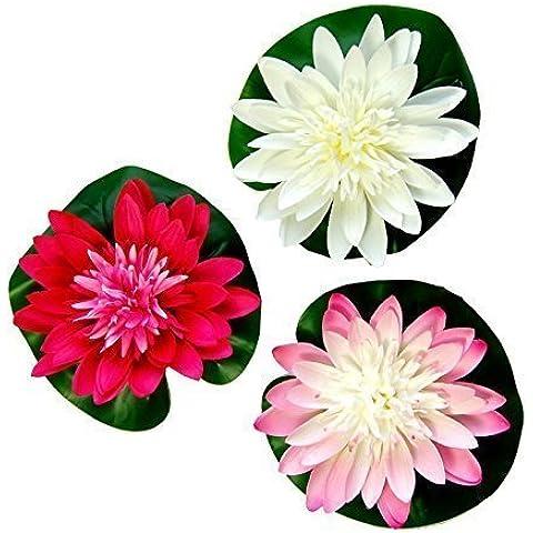 Artificiale Galleggiante Lotus Giglio Imbottitura per Aquariuims