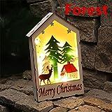 XuBa Casa de Lujo Led Adorno de Madera decoración para Navidad Año Dormitorio Escaparate Niños Regalos