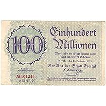 Banknoten 100 Millionen Mark, Stadt Freital, 1923, Nr. 101244