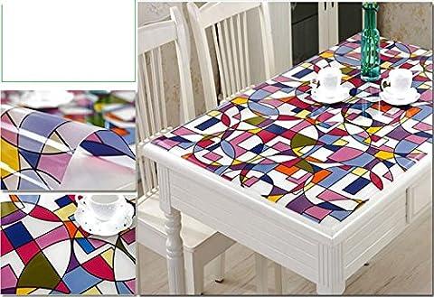 transparence Nappe en PVC étanche fête de mariage Maison de cuisine salle à manger Set de table Pad, 2,
