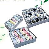 HuaYang 3Pcs boîte de rangement pour les sous-vêtements les soutien-gorges