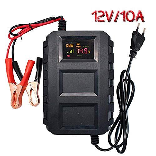 Ladegerät 12V - Multifunktions-10A Maintainer Intelligent Automatic Charger mit LCD-Bildschirm für Autos, Motor 12-volt-sla-batterie