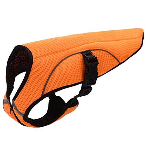 (BINGPET Evaporative Kühlung Jacke Swamp Cooler Weste Reflektierend Hunde Sicherheit Pet Hundegeschirr Jagd von, XXL, Orange)
