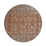Teppich Wohnzimmer Carpet Vintage Design Sunny 310 Rug Abstrakt Muster Polyester Ø 120 cm Beige/Teppiche günstig online kaufen