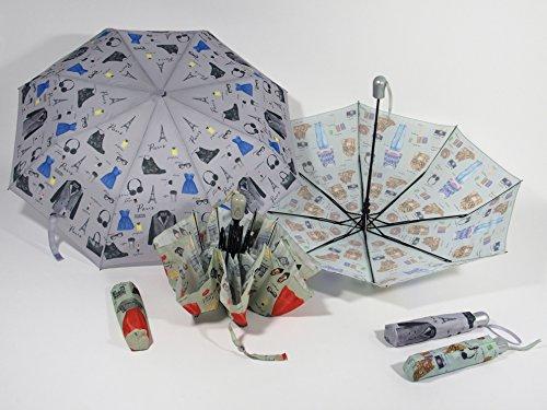 Ombrello pieghevole automatico 3 sezioni fantasia fashion