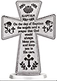 Standing Pewter Baptism Cross 3 Inch - Baby Gifts by Catholic Gift Shop Ltd