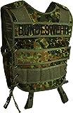 normani Taktische SWAT Weste mit Pistolenholster und abnehmbarem Schriftzug auf dem Rücken Farbe Bundeswehr Größe XL/XXL