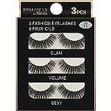 Die False Eyelashes,3 Paare 3D Lange falsche Wimpern bilden natürliche gefälschte Starke Schwarze Wimpern,Nachtpflege,Schwarz,3Paare - 3D
