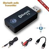 Best Transmisores de alimentación de accesorios Bluetooth - Bluetooth transmisor, yetor 3,5mm estéreo portátil inalámbrico de Review