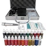 Solong Tattoo Permanent Makeup Kit Tattoo Augenbraue Lippe Maschine Set 23 Farben EK111-1