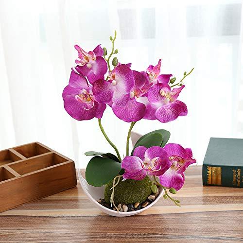 Maceta de orquídea Artificial con macetas de plástico, Color Morado