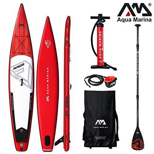Aqua Marina Race ISUP - Tabla de Paddle Surf Hinchable (381 x 66 x 15 cm)