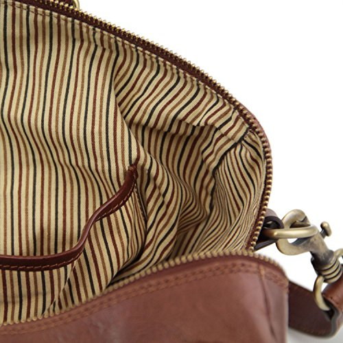 Tuscany Leather - TL Voyager - Borsa da viaggio in pelle - Misura piccola - TL141216 (Rosso) Rosso