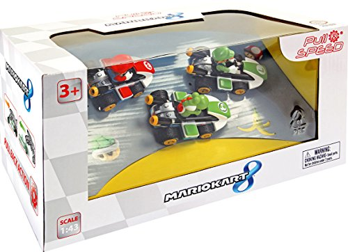 Pull & Speed - Nintendo Mario Kart 8, caja de 3 vehículos: Mario, Lui