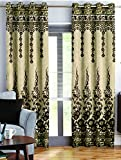Story@Home Berry Blackout Contemporary Pattern 1 Piece Jacquard Window Curtains for Living Room