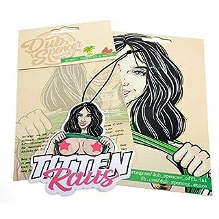 Titten Raus Sommer Edition Duftbaum Brüste FKK Porno Lufterfrischer Air Freshener - Dub (Duft: Tropical)