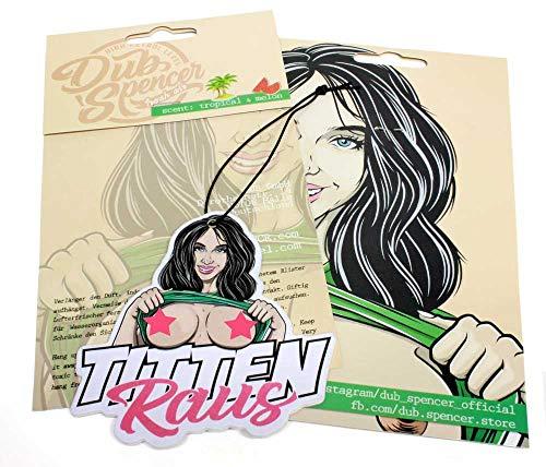 Titten Raus Sommer Edition Duftbaum Brüste FKK Porno Lufterfrischer Air Freshener - Dub (Duft: Wassermelone)