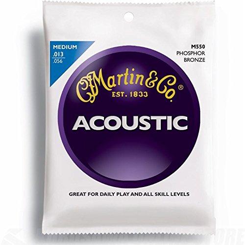 Martin Gitarrensaiten für Akustikgitarren, 92/8, Phosphor-Bronze-Umwicklung, Stärke Medium .013-.056
