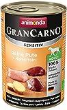 Animonda GranCarno Hundefutter Sensitive Adult Reine Pute + Kartoffeln, 6er Pack (6 x 400 g)