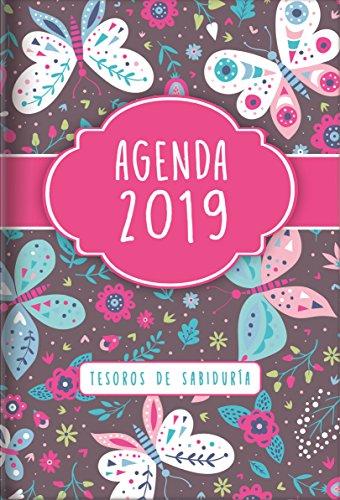 2019 Agenda - Tesoros de Sabiduría - Mariposas: Con Un Pensamiento Motivador O Un Versículo de la Biblia Para Cada Día del Año