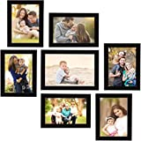 Naraniya Creation Individual Photo Frames Wall Hanging Set of 7, Black