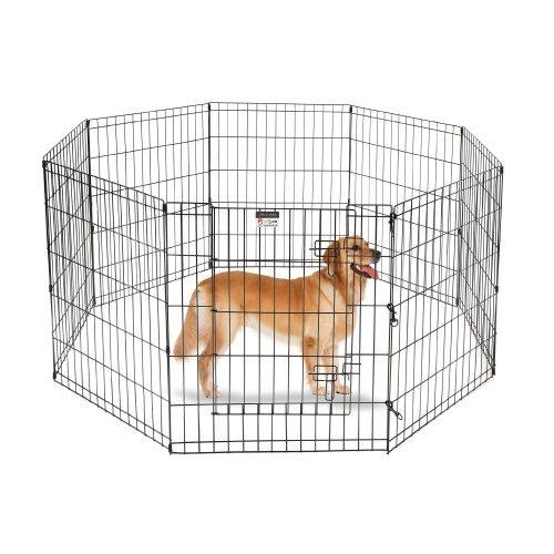Pet Trex Laufstall für Hunde, 8 hohe Platten, 24
