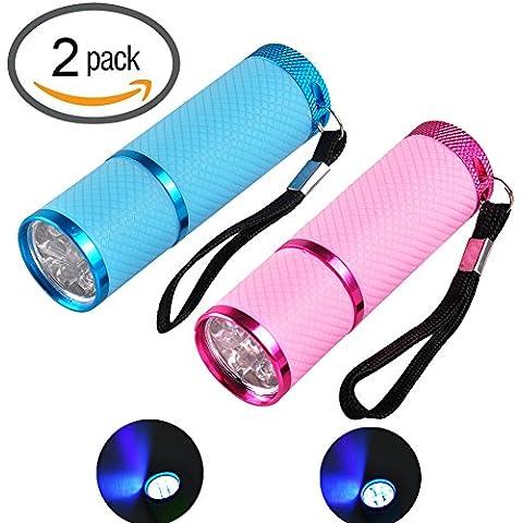 henyi-tech portatile Mini 9LED UV Nail Dryer cura lampada torcia
