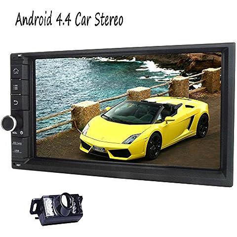 6.2 pollici Android 4.4.4 Radio autoradio unit¨¤ principale Doppio Din Auto GPS Uscire a Dash multimediale HD 1080P per suonare di visione notturna macchina fotografica di sostegno-A9 Quadcore DDR3 1G Nand 16G 1024 * 600 dello schermo