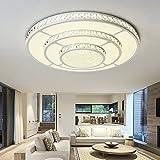ODT 96W LED Deckenlampe Kronleuchter Volldimmbar mit Fernbedienung Kristallampe 80cm Durchmesser Wohnzimmer Schlafzimmer Kinderzimmer PS6936-R80 [Energieklasse A++]