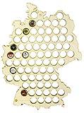 Grinscard Bierkarte aus Birkensperrholz in Größe L - Kronkorkensammler Deutschland Karte - Liebevoll Gestaltet am Niederrhein - LAUBLUST