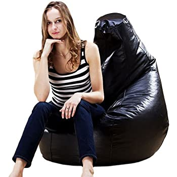 Puregadgets C PU Leather XXL Extra Large High Back Adult Beanbag Gaming Chair Pod Seat Bean