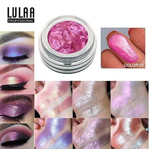 Bibao Maquillage de gel de gelée yeux ombre perle métallique palette fard à paupières maquillage Gel des lèvres (G)