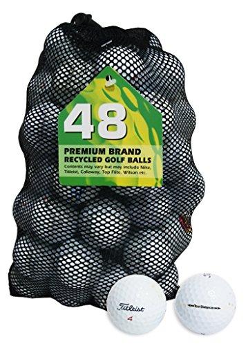 Second Chance Titleist 48 Balles de golf de récupération Qualité supérieure Grade B