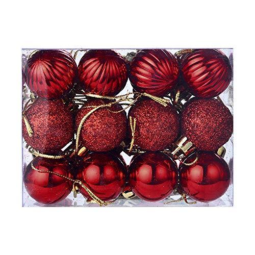 Zolimx decorazione albero di natale palla, 24 pz 30mm natale xmas tree sfera bagattella appeso home ornamento partito decor,regalo di natale di natale decotion