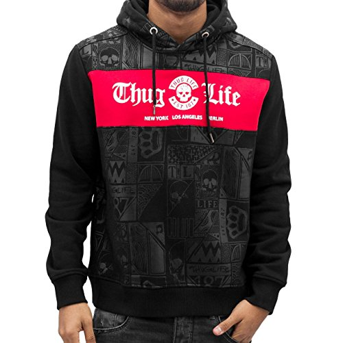 Thug Life Herren Oberteile / Hoody Broon Black / Red