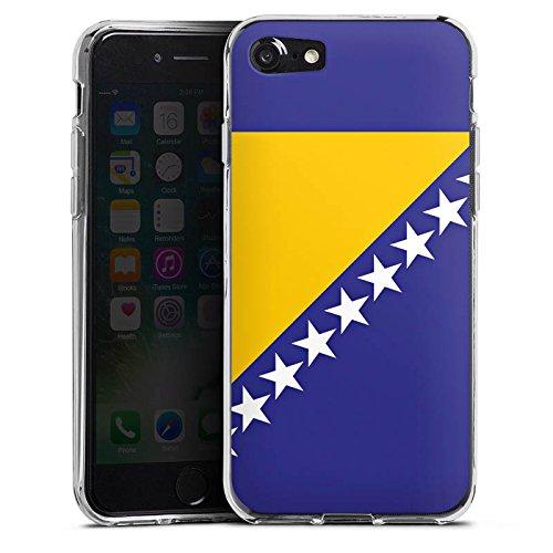 Apple iPhone X Silikon Hülle Case Schutzhülle Bosnien Flagge Fußball Silikon Case transparent