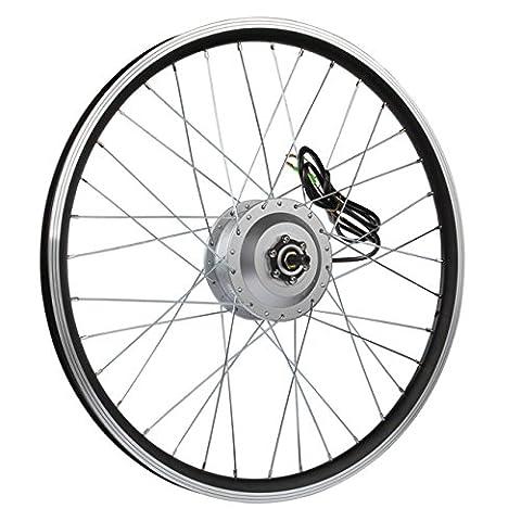AFTERPARTZ® Electrique Byclette Moteur Kit Conversion électrique LCD roue avant Pedelec 36V 250W de conver e-vélo (24